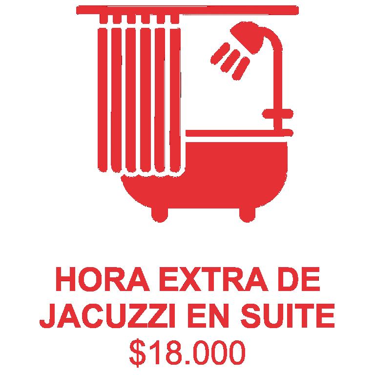 servicio hora extra jacuzzi suite